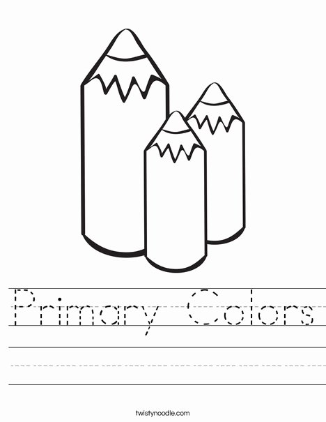 Primary Colors Worksheets for Preschoolers Fresh Primary Colors Worksheet Twisty Noodle