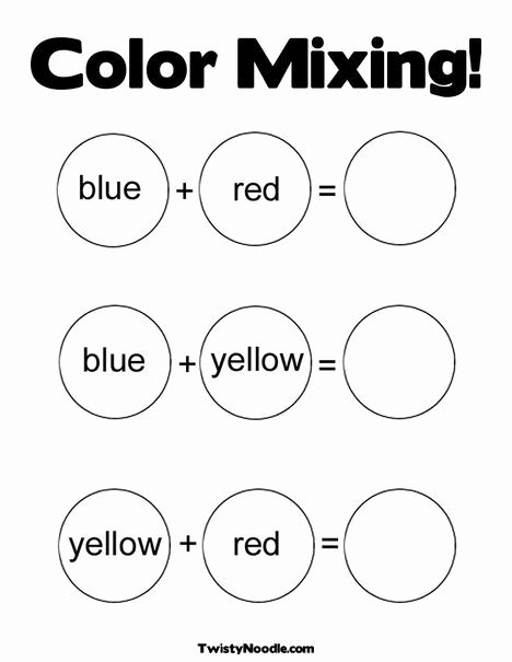 Primary Colors Worksheets for Preschoolers top Color Mixing Coloring Page From Twistynoodle