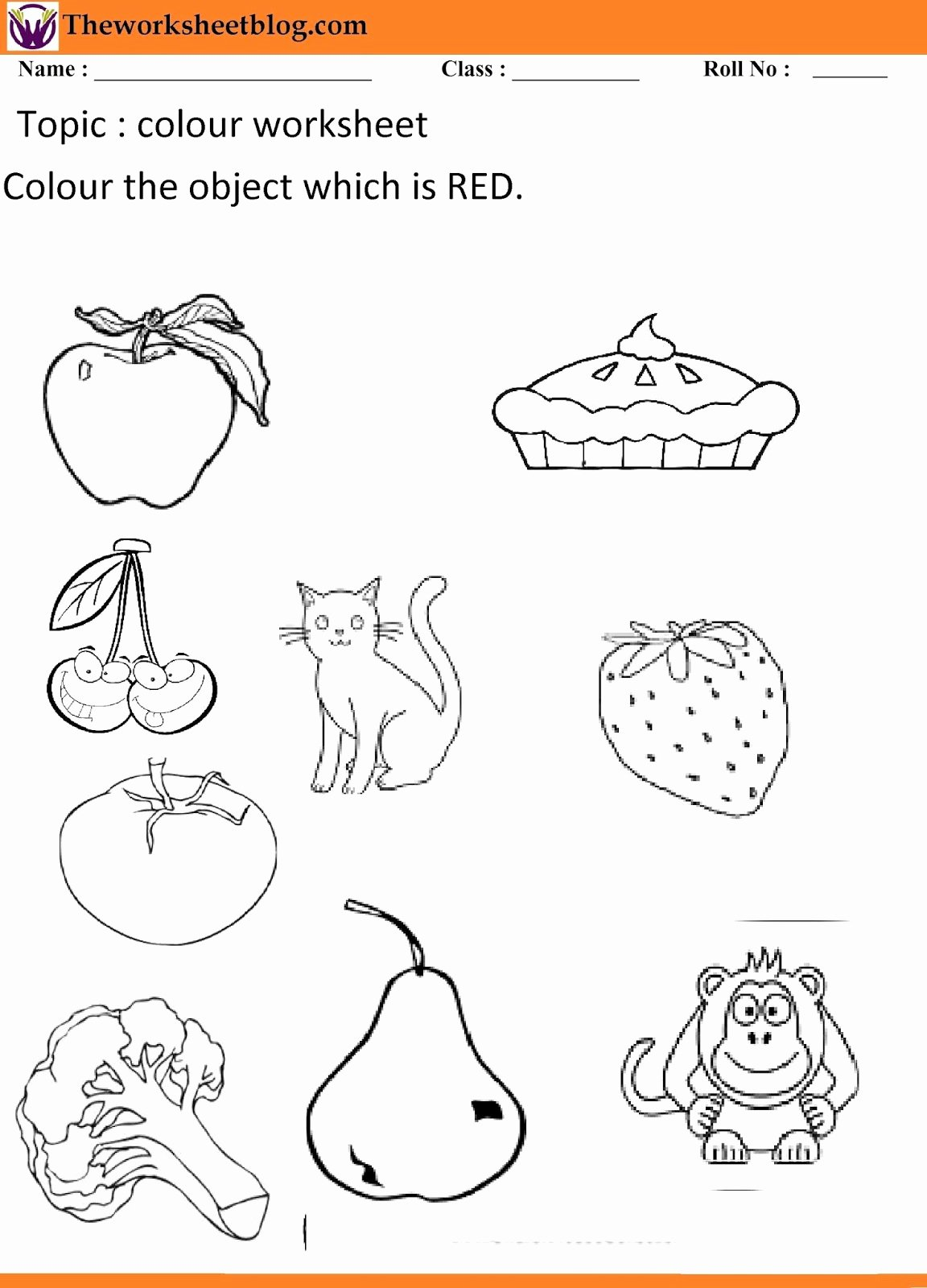 Primary Colors Worksheets for Preschoolers top Color Names Worksheet