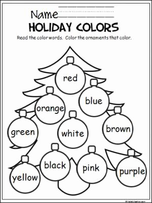 Printable Christmas Worksheets for Preschoolers Lovely Colorful Christmas Tree Madebyteachers