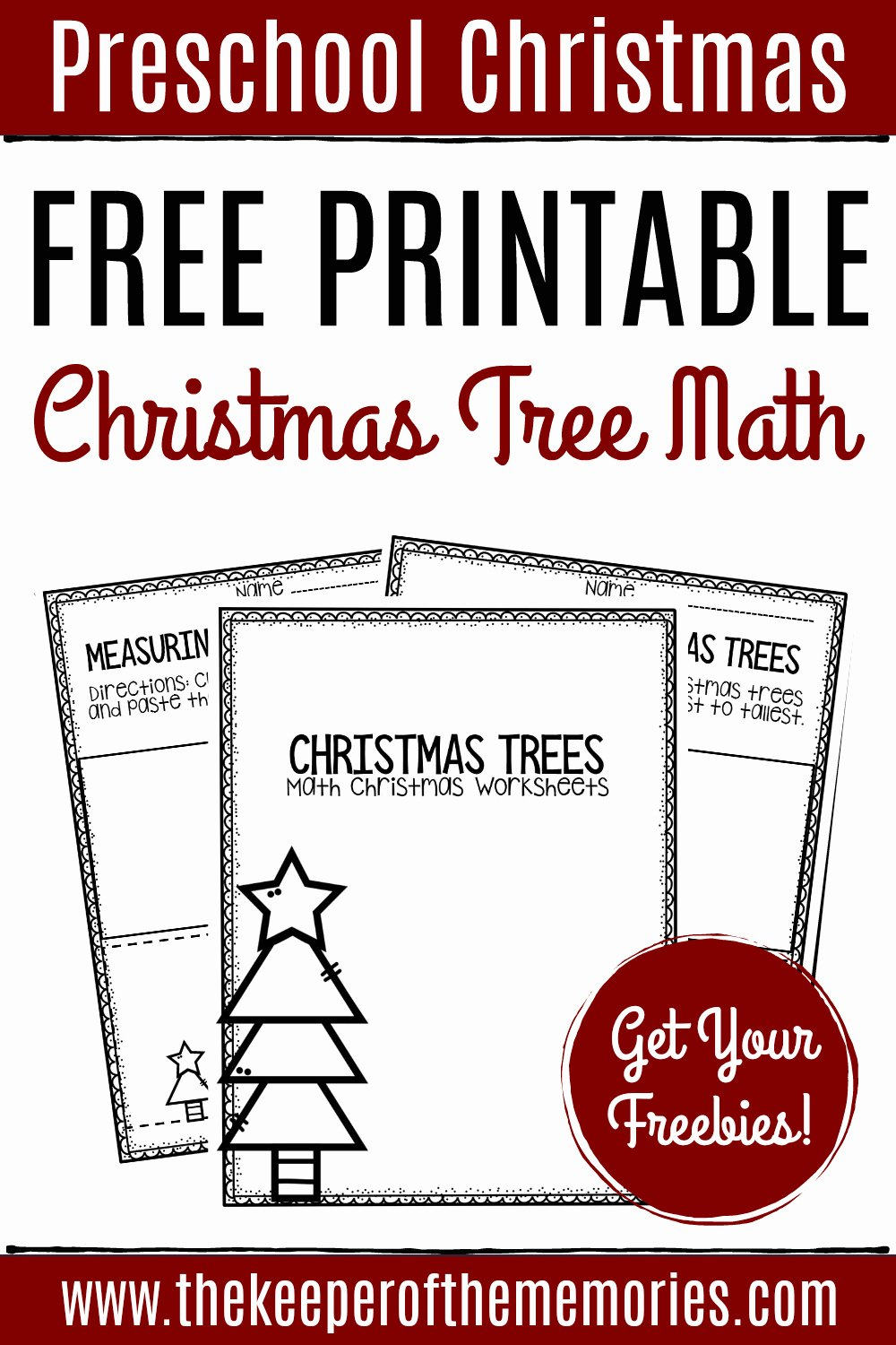 Printable Christmas Worksheets for Preschoolers Lovely Free Printable Measuring Christmas Trees Math Christmas