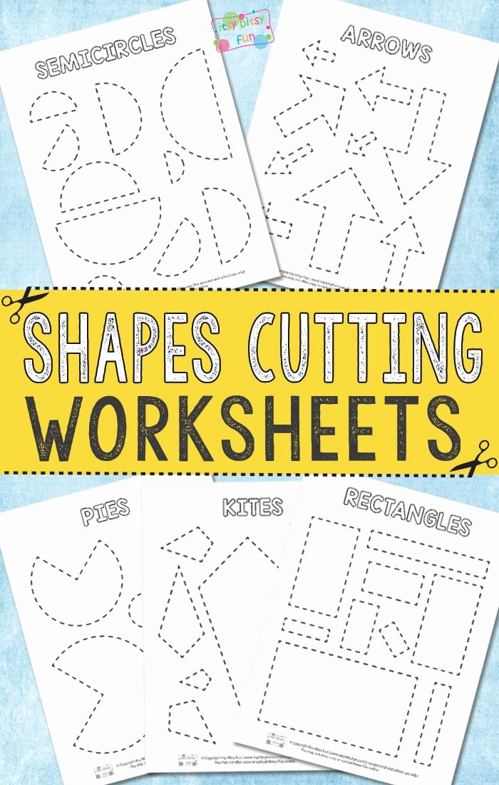 Printable Cutting Worksheets for Preschoolers Inspirational Cutting Shapes Worksheets Itsybitsyfun