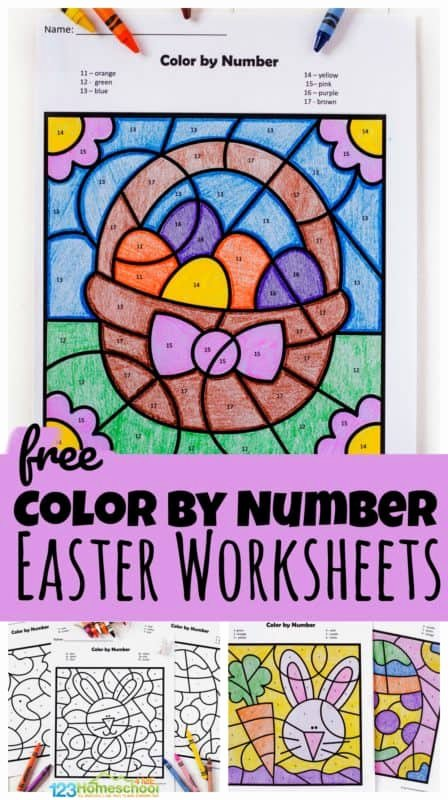 Printable Easter Worksheets for Preschoolers Inspirational Free Easter Color by Number Worksheets