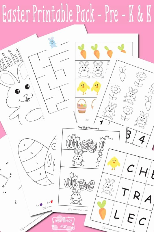 Printable Easter Worksheets for Preschoolers Lovely Easter Printable Preschool and Kindergarten Pack