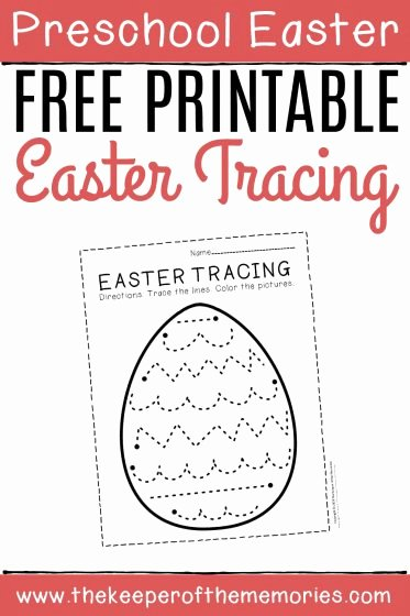 Printable Easter Worksheets for Preschoolers New Free Printable Tracing Easter Preschool Worksheets the