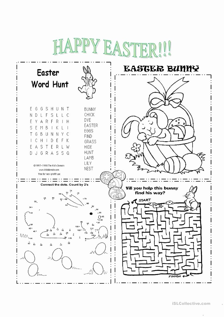 Printable Easter Worksheets for Preschoolers New Math Worksheet Free Printable Activity Sheets for