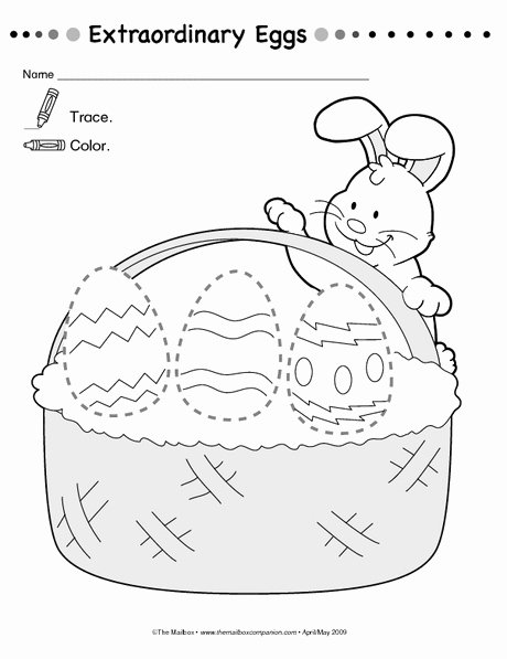 Printable Easter Worksheets for Preschoolers Unique Free Printable Easter Trace Worksheet