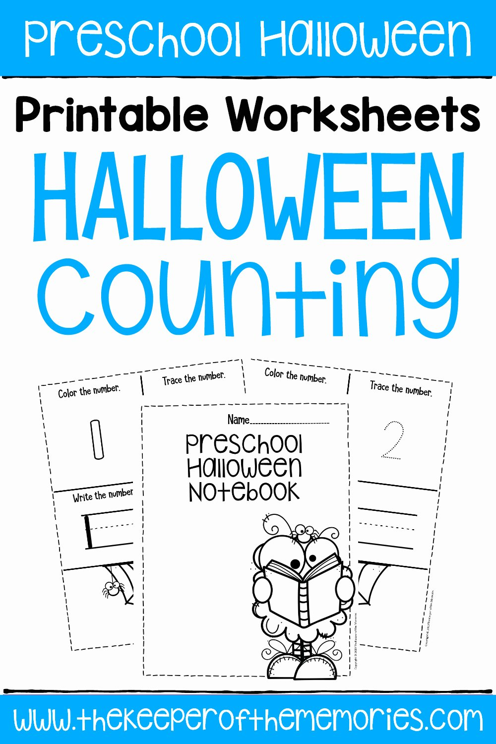 Printable Halloween Worksheets for Preschoolers Awesome Free Printable Numbers Halloween Preschool Worksheets