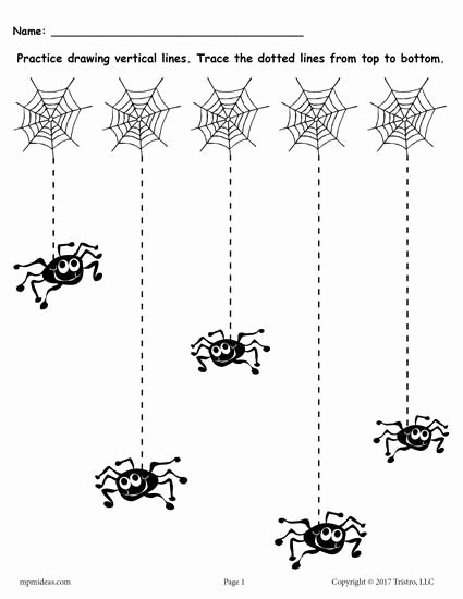Printable Halloween Worksheets for Preschoolers Inspirational Printable Halloween Line Tracing Worksheets