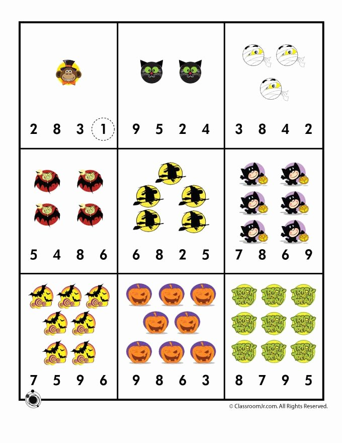Printable Halloween Worksheets for Preschoolers top Preschool Worksheets for Halloween