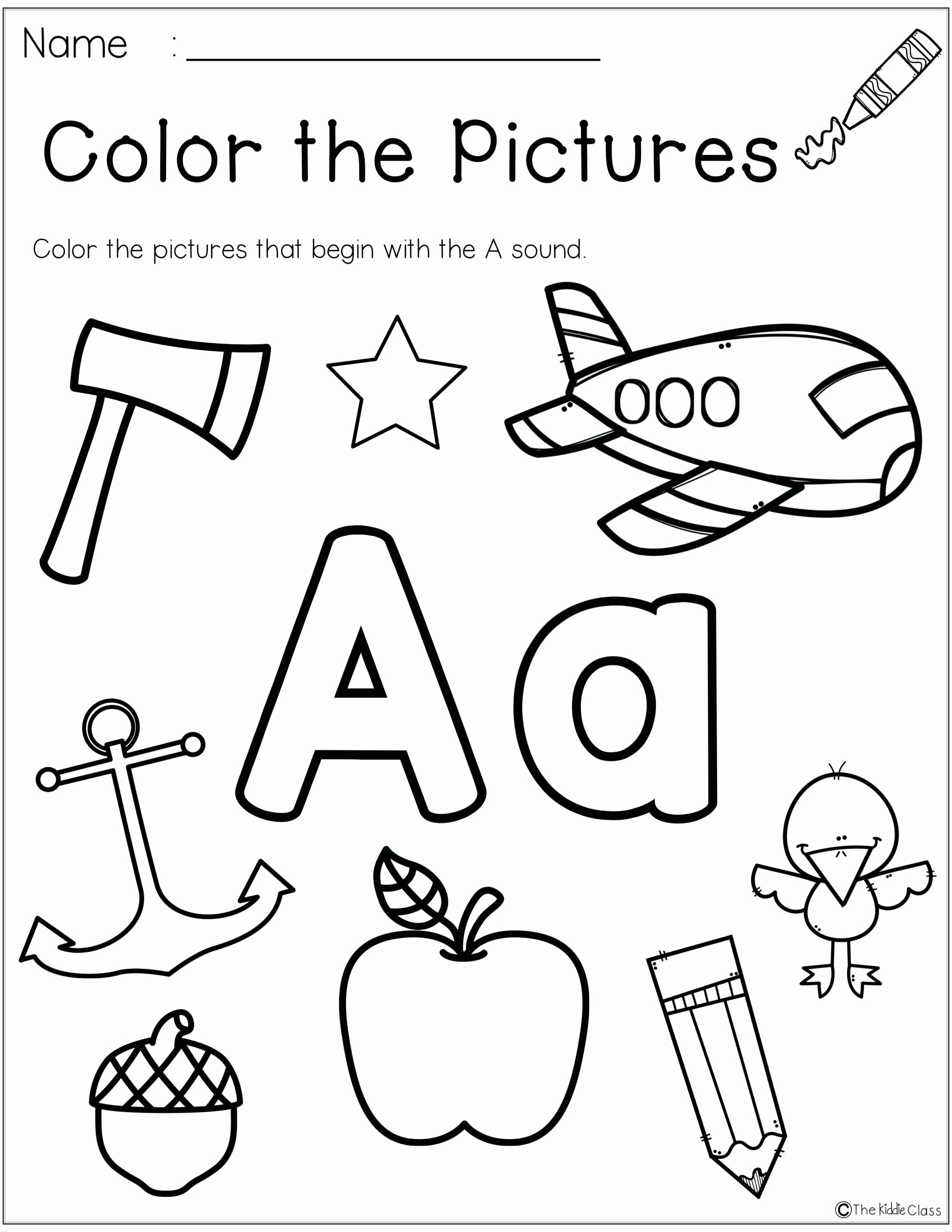 Printable Letter A Worksheets for Preschoolers Awesome Kindergarten Worksheets Addition for Months the Year