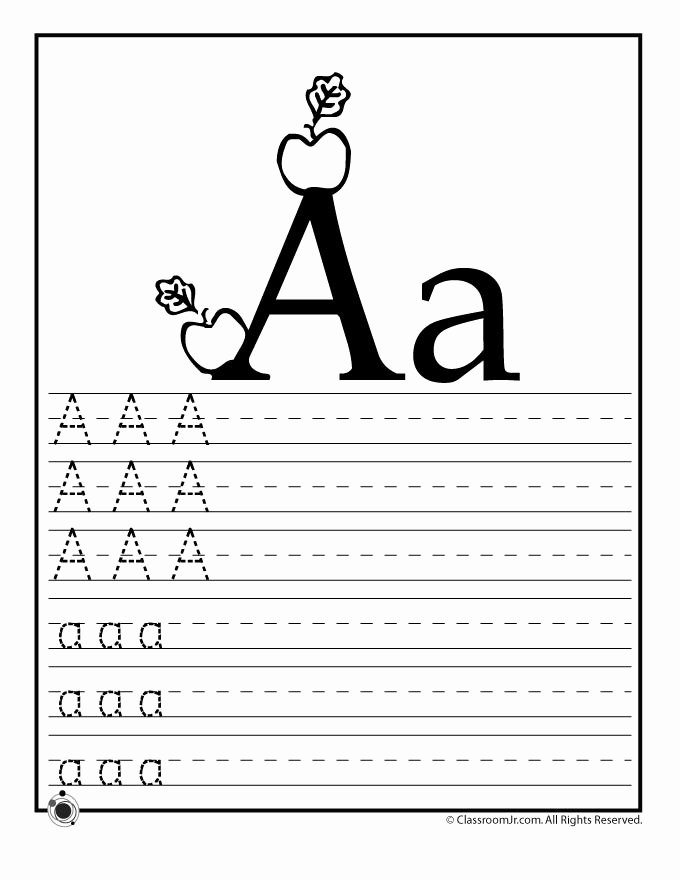 Printable Letter A Worksheets for Preschoolers New Learning Abc S Worksheets