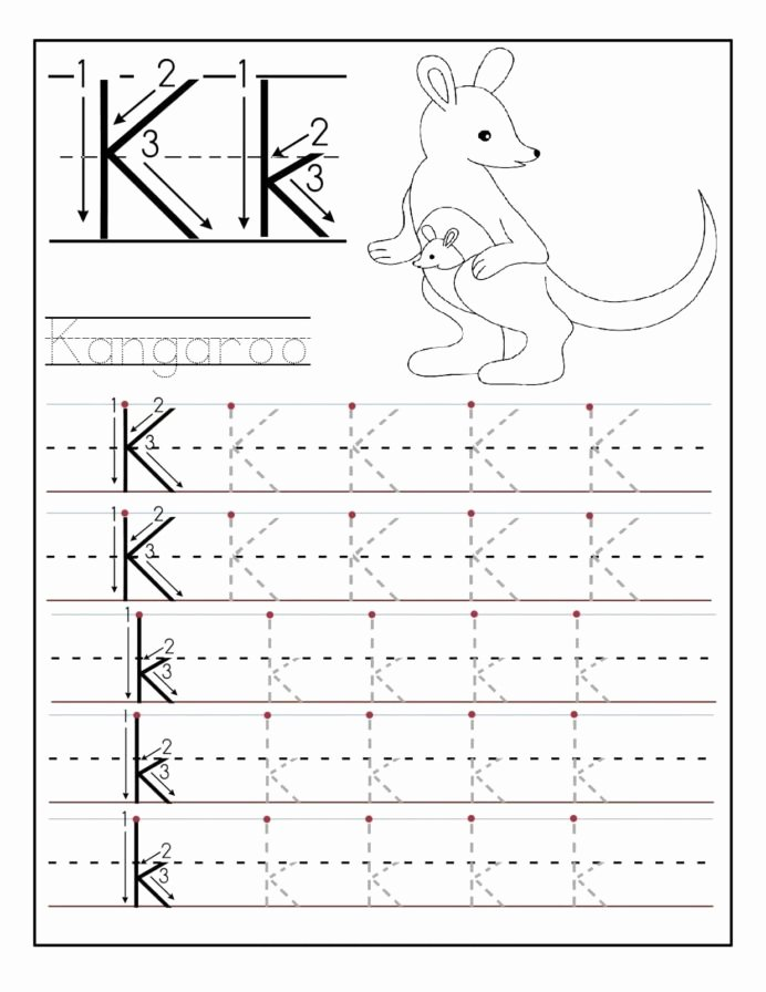 Printable Letter Tracing Worksheets for Preschoolers Lovely Letter Worksheets for Preschool and Kindergarten Tracing