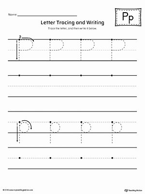 Printable Letter Tracing Worksheets for Preschoolers Unique Worksheet Preschool Letter Tracing Worksheet P and Writing