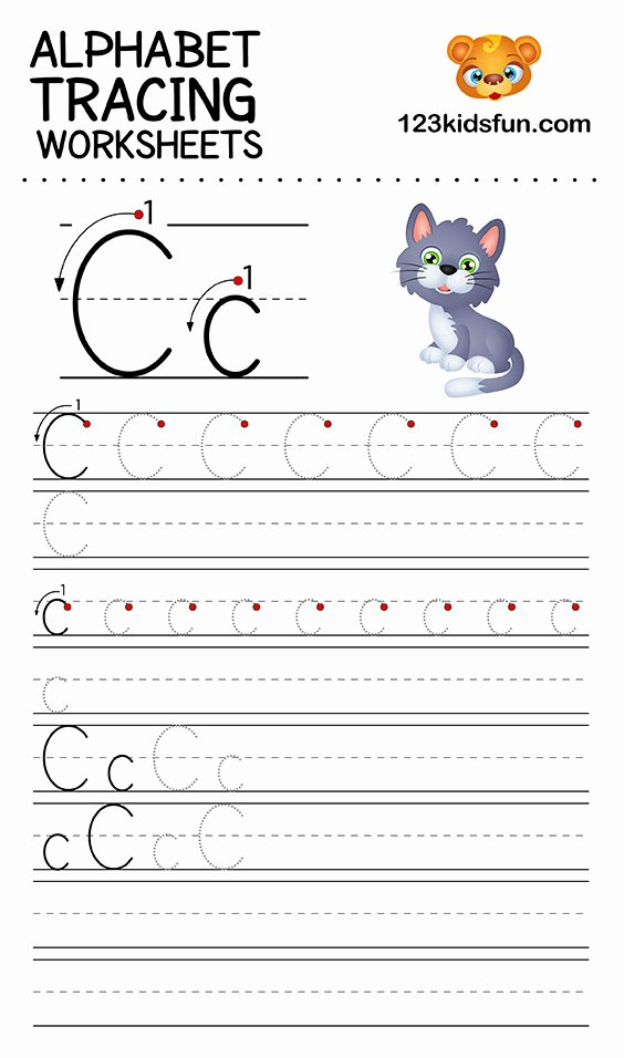 alphabet tracing worksheets a z free printable for kids 123 3