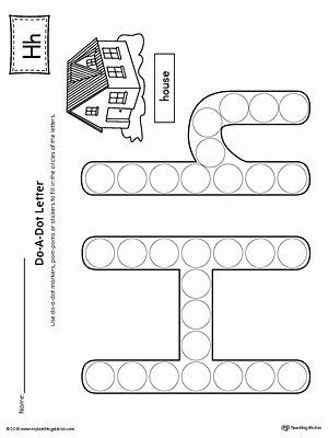 Printable Letter Worksheets for Preschoolers New Letter H Do A Dot Worksheet
