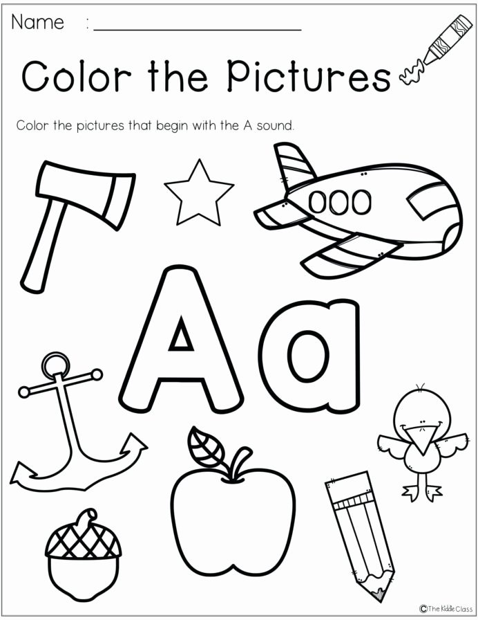 Printable Letter Worksheets for Preschoolers top Kindergarten Worksheets Addition for Months the Year