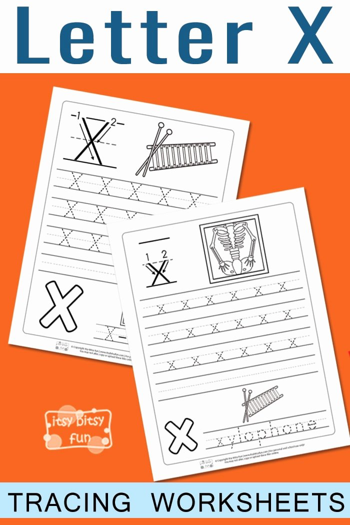 Printable Letter X Worksheets for Preschoolers Best Of Letter X Tracing Worksheets Itsybitsyfun