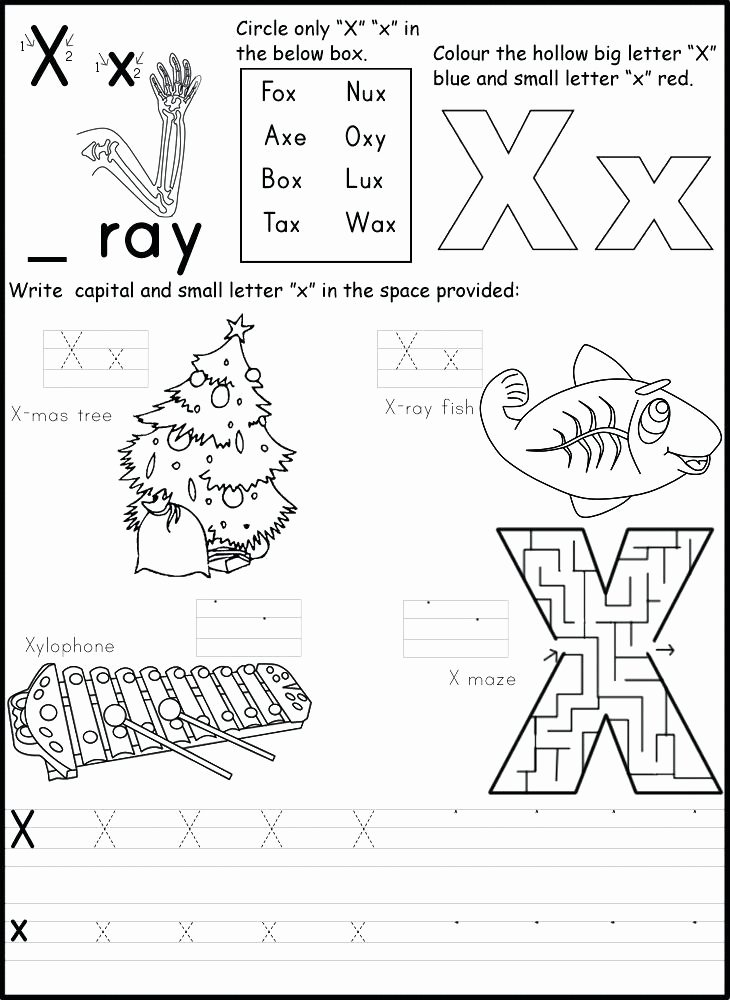 Printable Letter X Worksheets for Preschoolers Fresh 10 Letter X Learning Worksheets for Kids