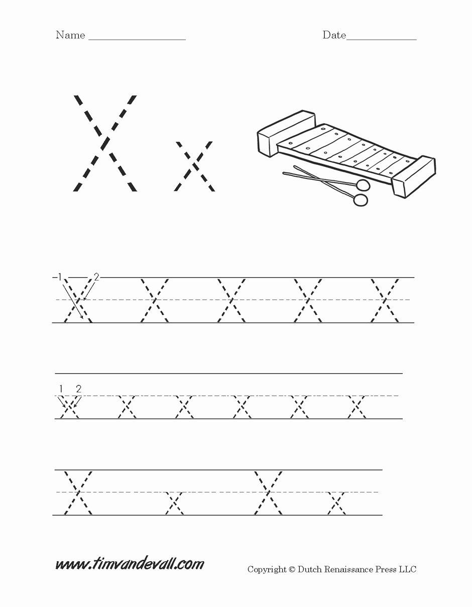 Printable Letter X Worksheets for Preschoolers Fresh Alphabet Worksheet Handwriting Capital Letter X X Marks the