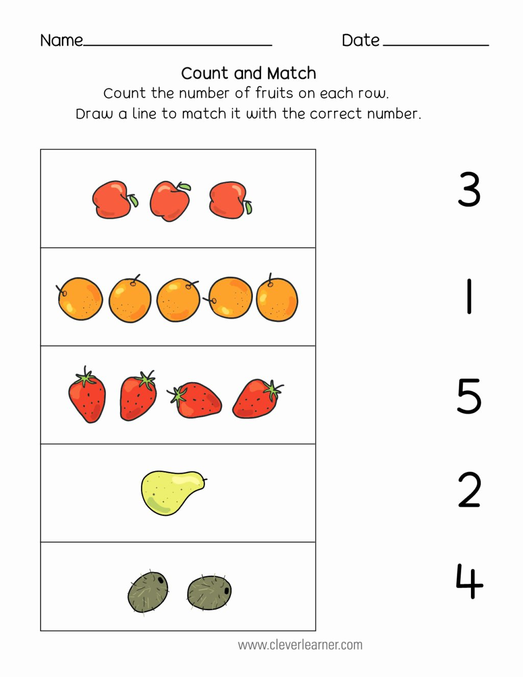 Printable Matching Worksheets for Preschoolers New Worksheet Count and Match Matching Worksheets for