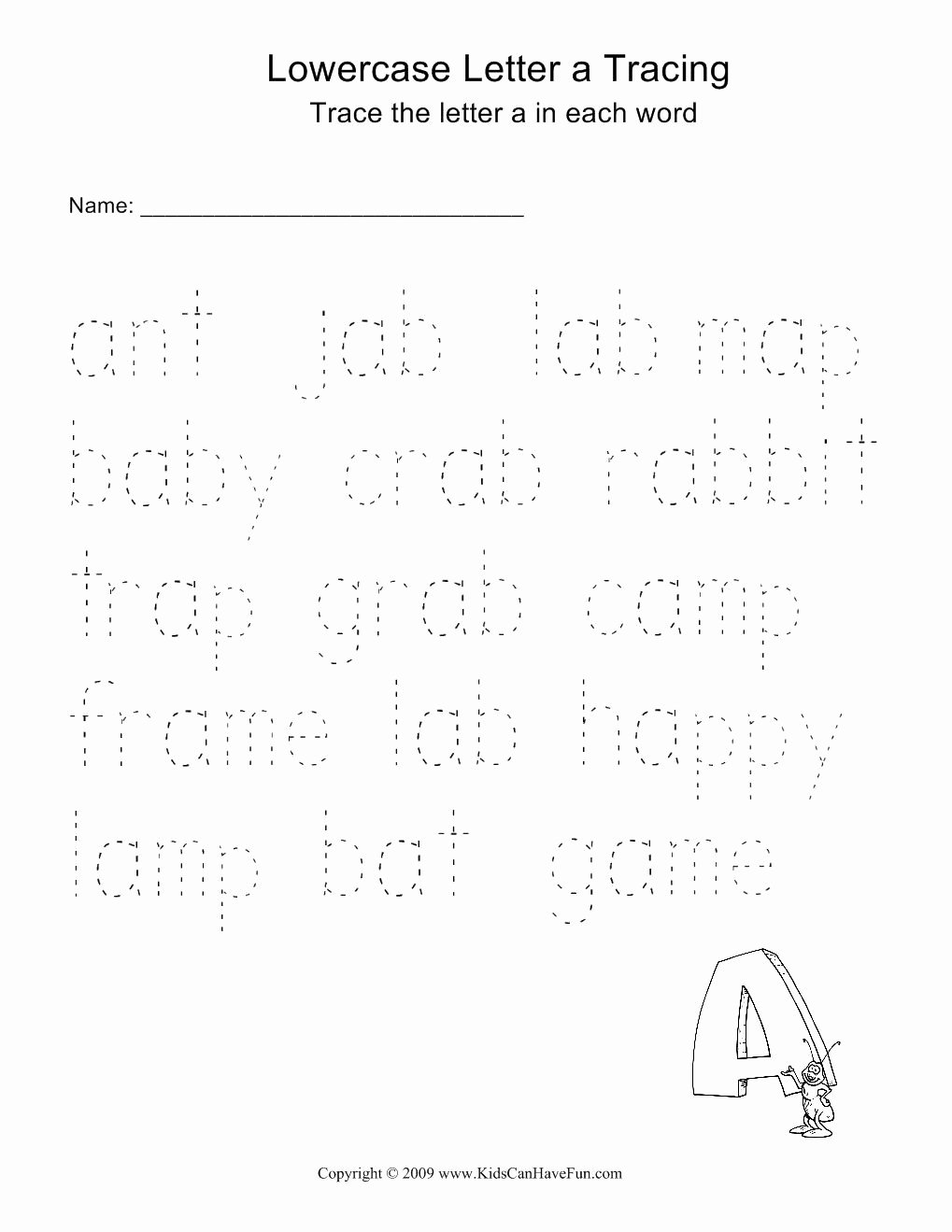Printable Name Tracing Worksheets for Preschoolers Awesome Word Tracing Worksheets for Kids