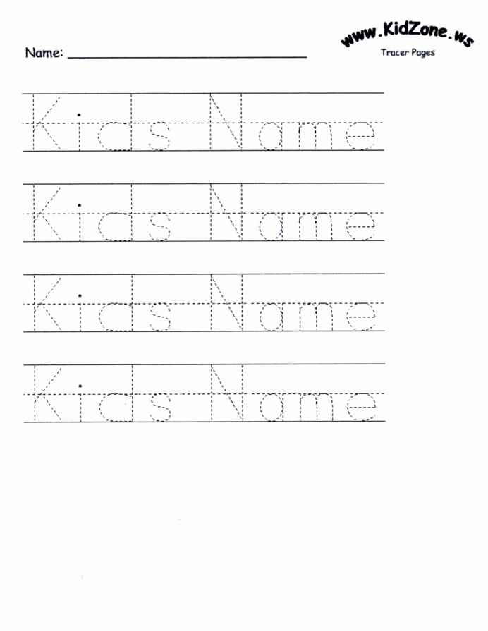 Printable Name Worksheets for Preschoolers Beautiful Name Tracing Worksheets for Printable Activities Free