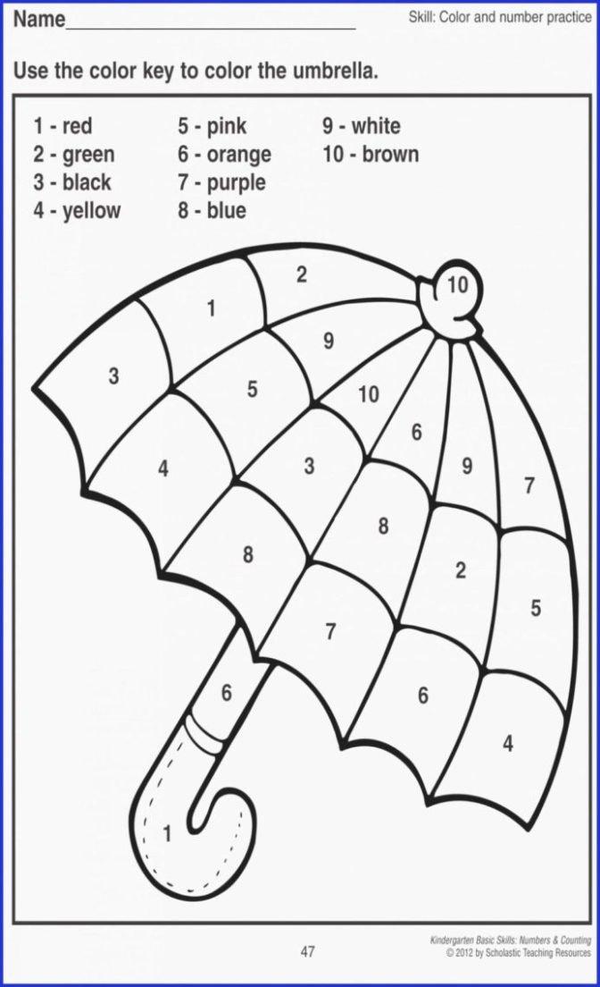 Printable Number Worksheets for Preschoolers Beautiful Math Worksheet Number Worksheets for Preschool Math Color