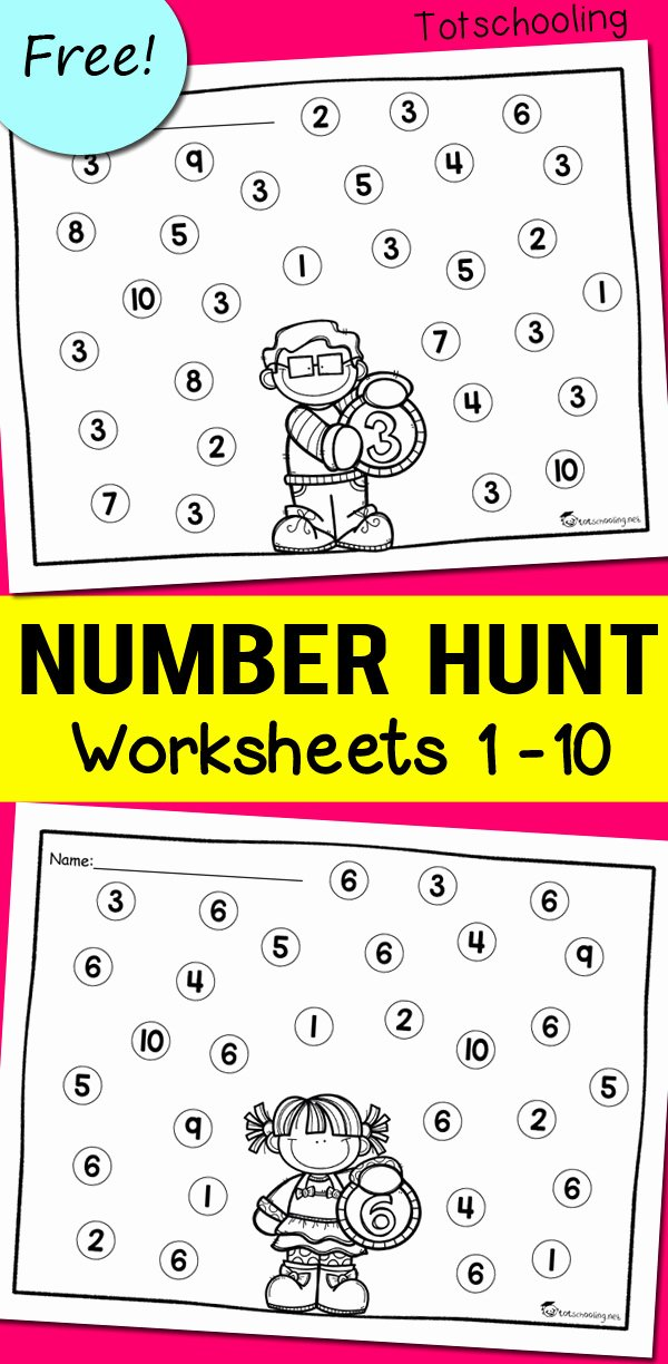 Printable Numbers Worksheets for Preschoolers Beautiful Number Recognition Worksheets