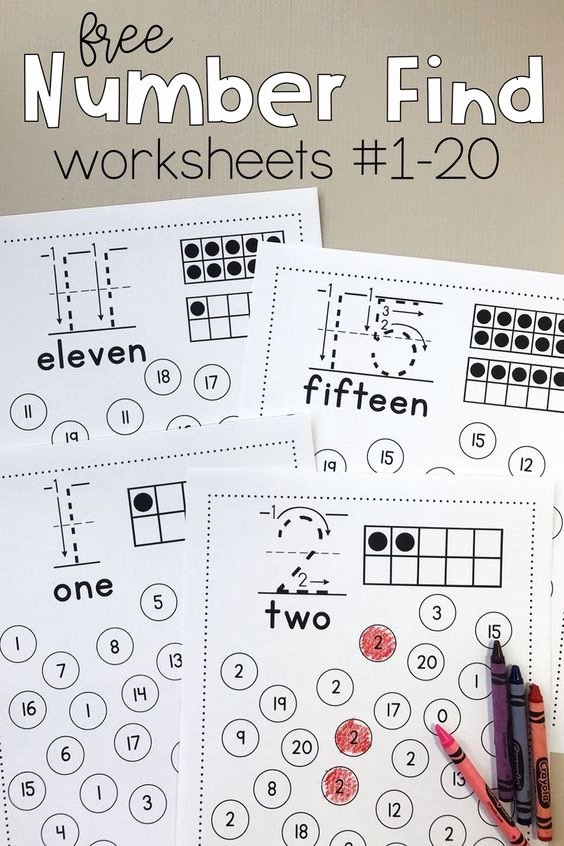 Printable Numbers Worksheets for Preschoolers New Free Printable Number Find Worksheets Homeschool Giveaways