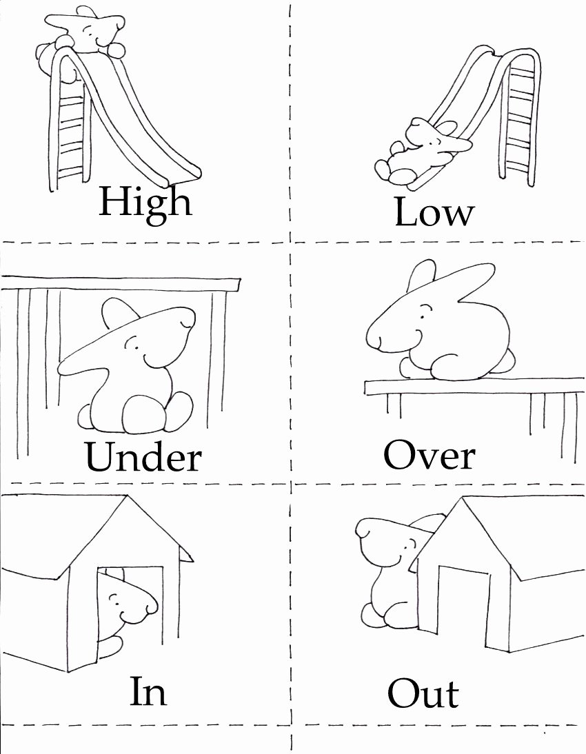 Printable Opposite Worksheets for Preschoolers top 3 In 1 Printables
