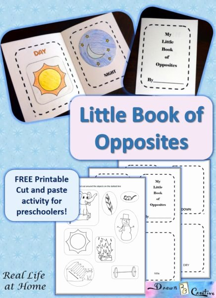 Printable Opposite Worksheets for Preschoolers Unique My Little Book Of Opposites Free Printable