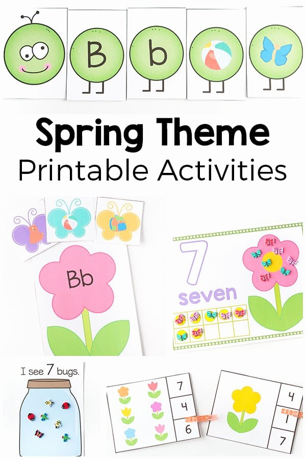 Printable Spring Worksheets for Preschoolers Fresh Spring theme Printables and Activities for Preschool and