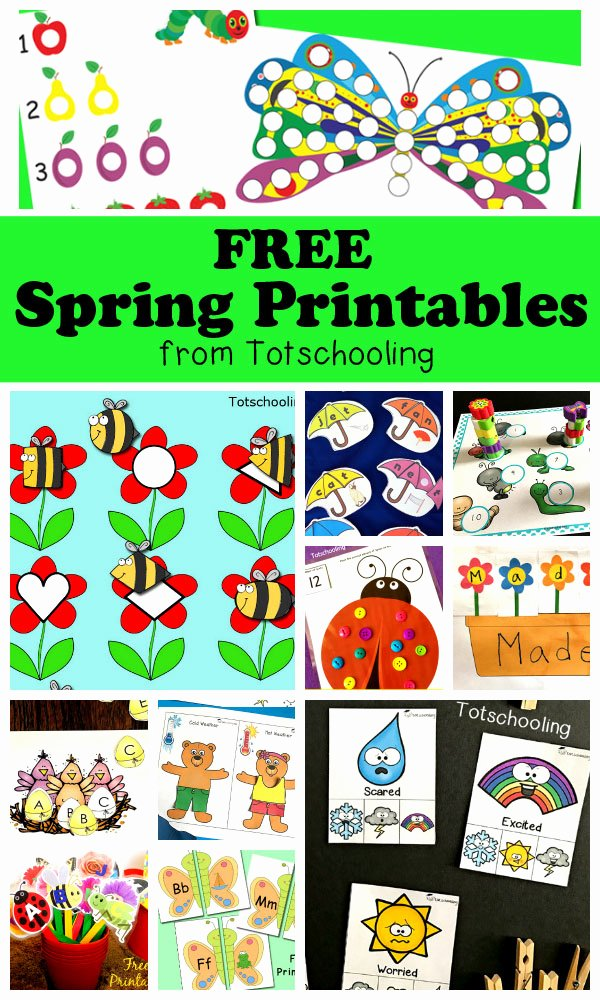 Printable Spring Worksheets for Preschoolers Inspirational Free Spring Printables for Kids