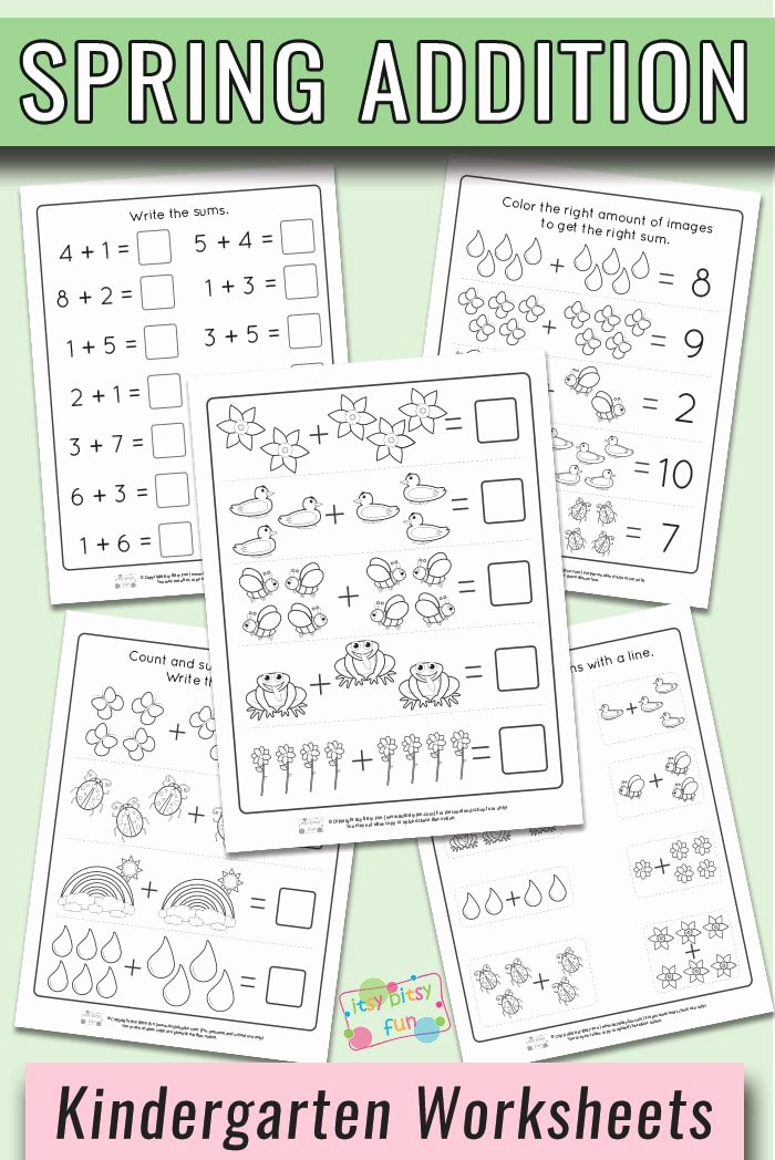 Printable Spring Worksheets for Preschoolers Inspirational Spring Kindergarten Addition Worksheets Itsybitsyfun