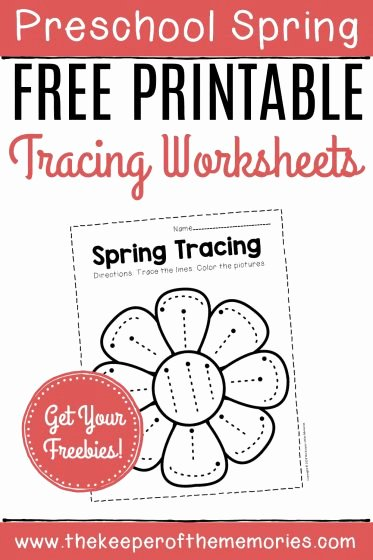 Printable Spring Worksheets for Preschoolers Lovely Free Printable Tracing Spring Preschool Worksheets the