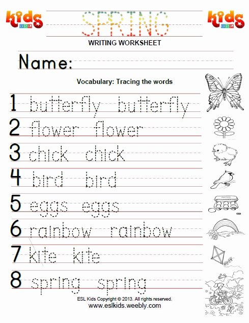 Printable Spring Worksheets for Preschoolers Lovely Spring Worksheets for Kids Worksheet English 8th Grade Math