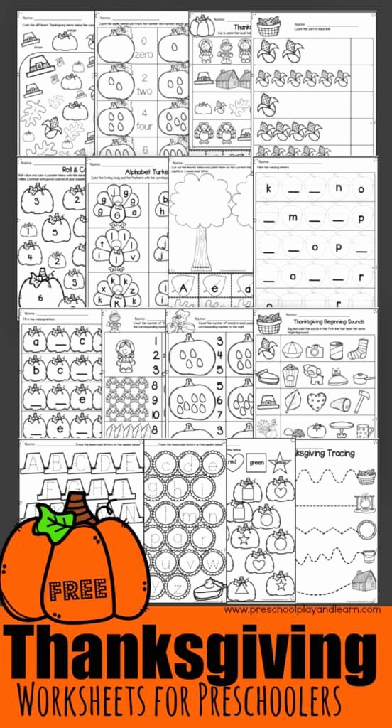 Printable Thanksgiving Worksheets for Preschoolers Beautiful Thanksgiving Worksheets for Preschoolers