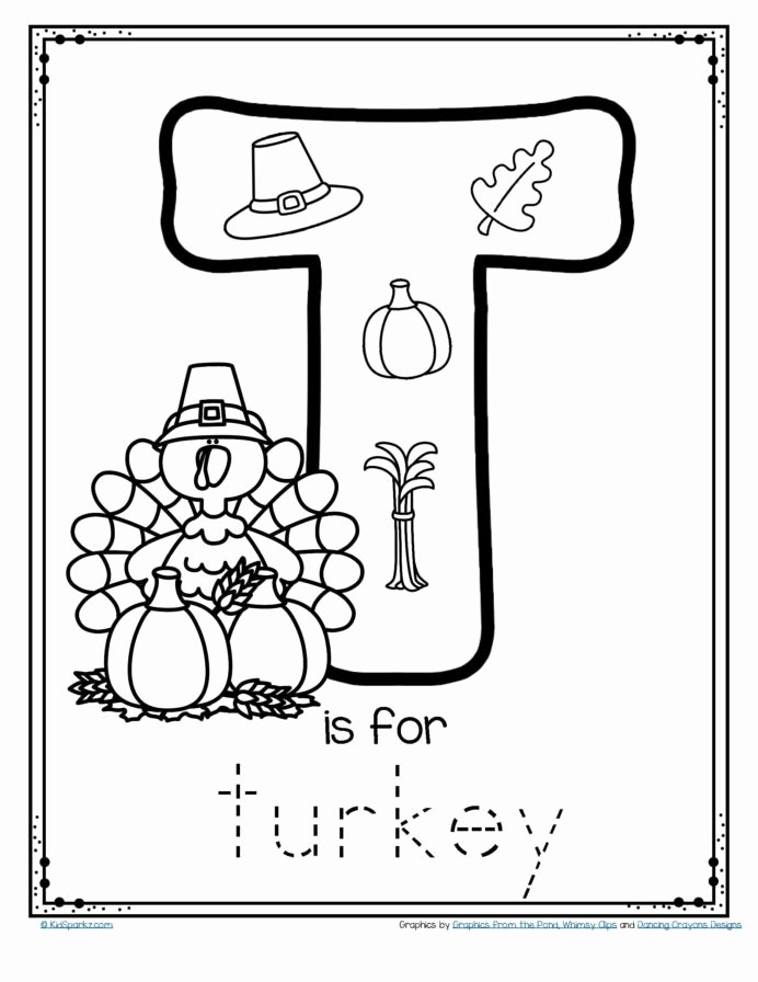 Printable Thanksgiving Worksheets for Preschoolers top Free is for Trace and Color Alphabet Printables Thanksgiving