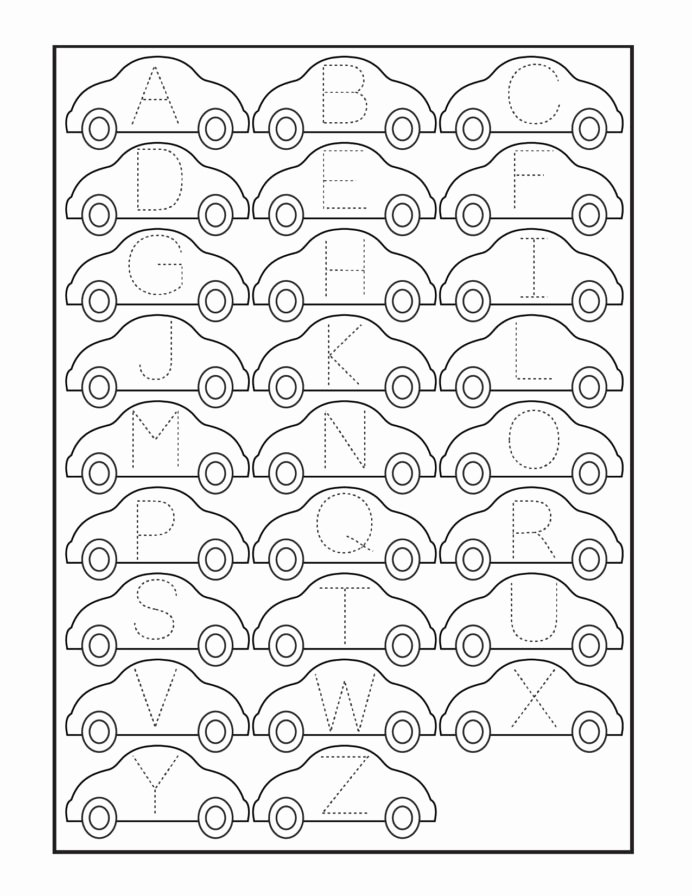 Printable Tracing Worksheets for Preschoolers New Car Number Tracing Worksheet Printable Worksheets and
