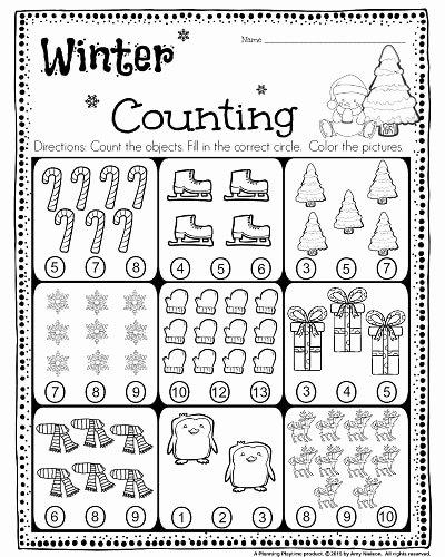 Printable Winter Worksheets for Preschoolers top Kindergarten Math and Literacy Worksheets for December