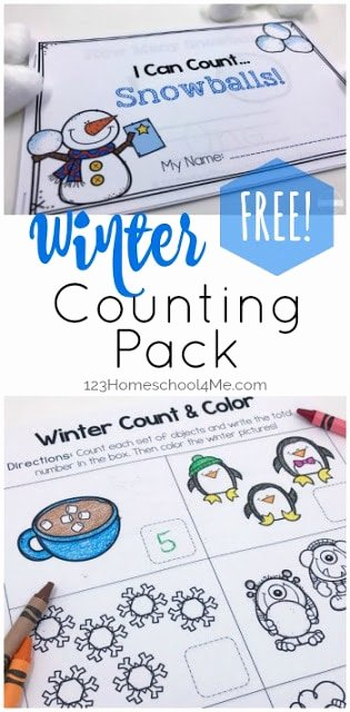 Printable Winter Worksheets for Preschoolers Unique Free Winter Count to 10 Printables