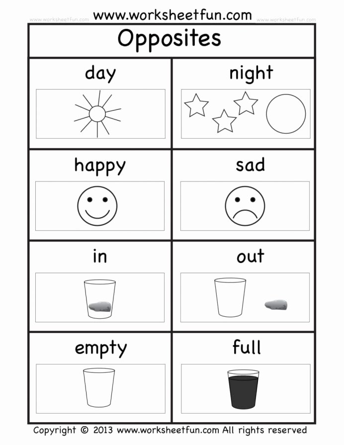 Printable Worksheets for Preschoolers Inspirational Coloring Pages Oppositess Preschool the for Words Grade