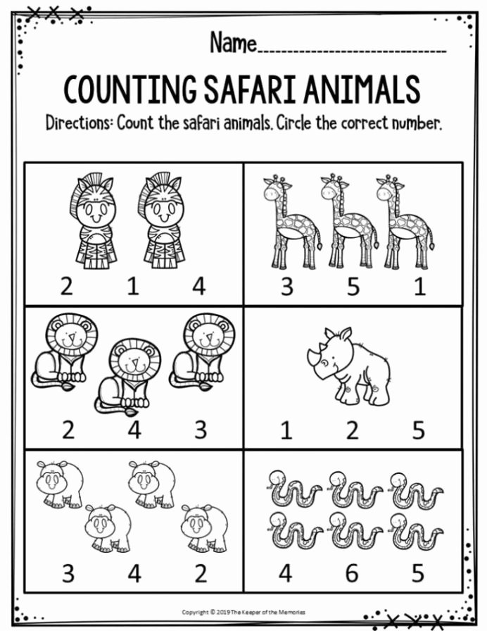 Printable Worksheets for Preschoolers Inspirational Free Printable Worksheets for Preschool Kindergarten Safari
