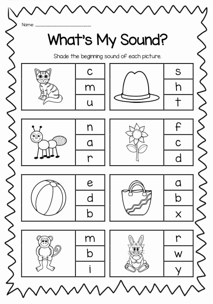 Printable Worksheets for Preschoolers Math Lovely Beginning sounds Printable Worksheet Pack Kindergarten