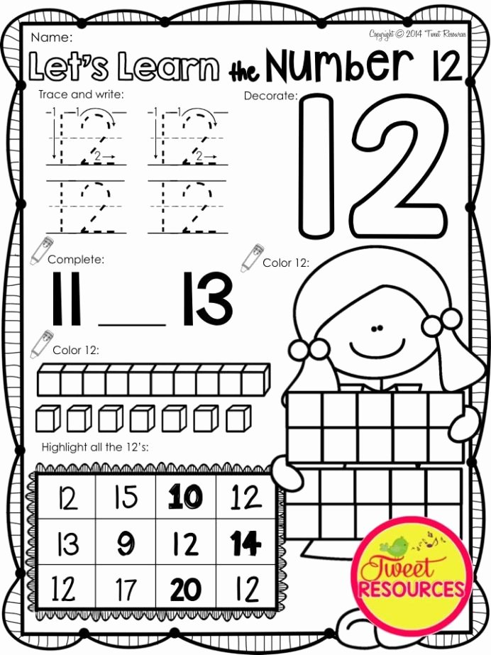 Printable Worksheets for Preschoolers Numbers Awesome Let Learn the Number No Prep Printables Worksheets for