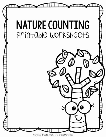 Printable Worksheets for Preschoolers Numbers Inspirational Free Printable Nature Kindergarten Worksheets the Keeper