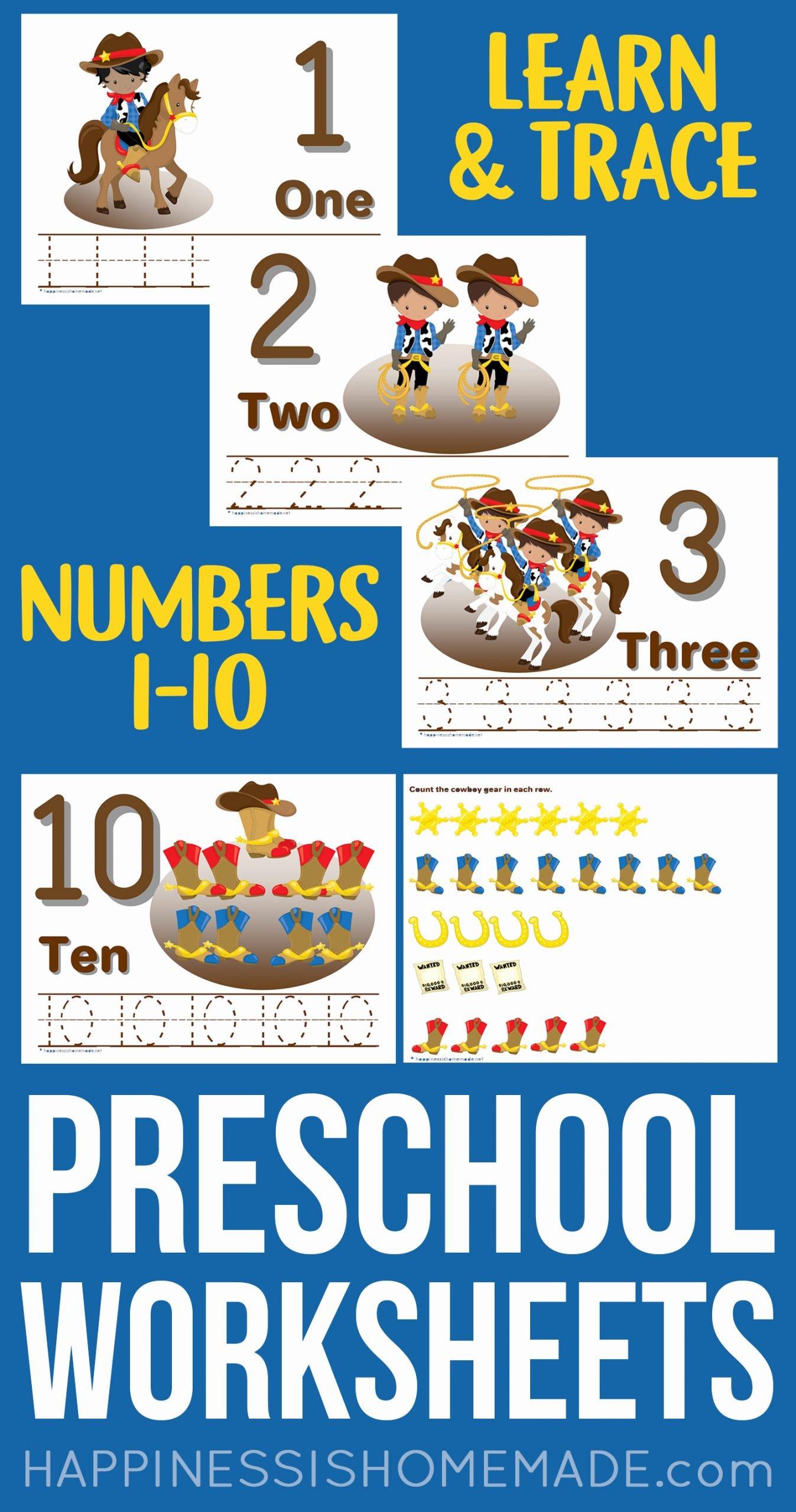 Printable Worksheets for Preschoolers Numbers New Preschool Worksheets Counting & Number Tracing Worksheets