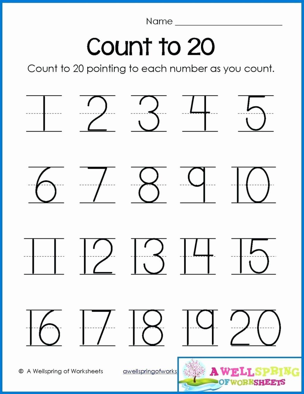 Printable Worksheets for Preschoolers Numbers Unique Worksheet Math Worksheets Preschool Free Printable