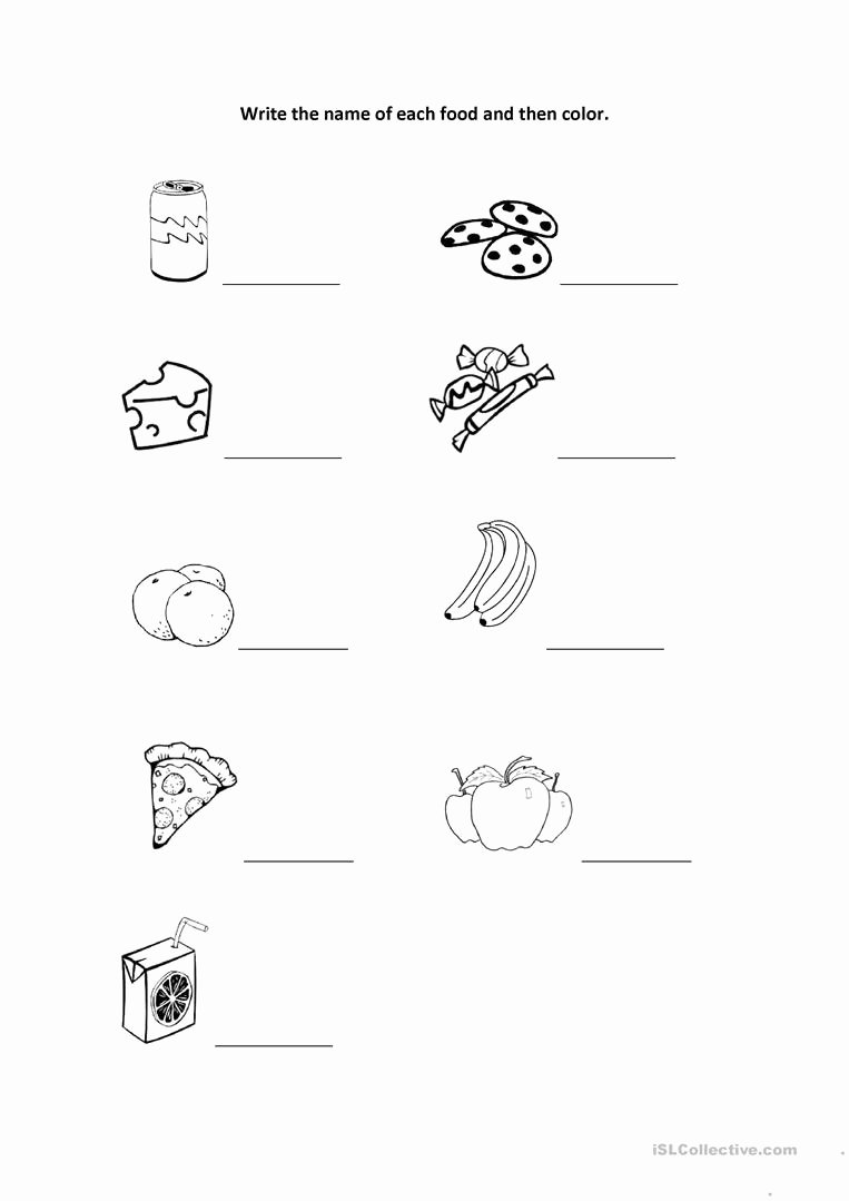 Printable Worksheets for Preschoolers to Write their Name Awesome Worksheet Write the Name and Color English Esl Worksheets